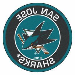 "San Jose Sharks 27"" Roundel Area Rug Floor Mat"