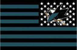 San Jose Sharks 3x5 Ft Banner Flag Hockey Grommets New Ameri