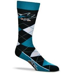 San Jose Sharks For Bare Feet Argyle Crew Socks