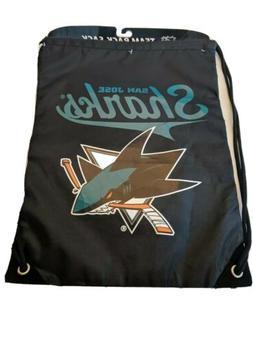 San Jose Sharks Drawstring Backpack  NHL Big Logo Back Sack