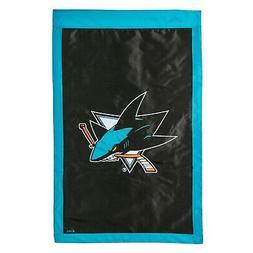 San Jose Sharks EG 2-sided 28x44 Premium Embroidered Appliqu