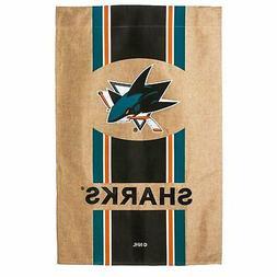 San Jose Sharks EG Premium 2-sided 29x43 BURLAP Banner House