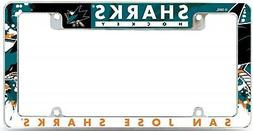 San Jose Sharks EZ VIEW All Over Chrome Frame Metal License