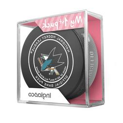 NEW SAN JOSE SHARKS MY FIRST OFFICIAL PUCK IN CASE BABY GIRL