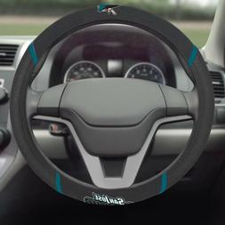 San Jose Sharks FM Premium Embroidered Black Auto Steering W