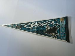 "San Jose Sharks Full Size Felt Pennant 12""x30"" NHL Vintage 1"