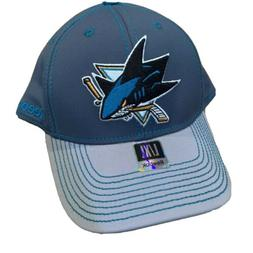 Reebok San Jose Sharks Hat Fitted Two Tone Structured Flex C