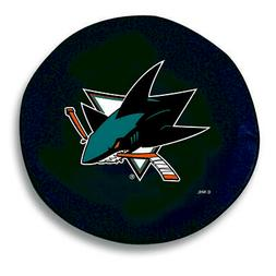 San Jose Sharks HBS Black Vinyl Fitted Spare Car Tire Cover
