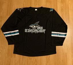 San Jose Sharks Heritage Night Los Tiburones Promo Jersey Si