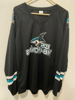 San Jose Sharks Heritage Night Sz XL Los Tiburones Promo Jer
