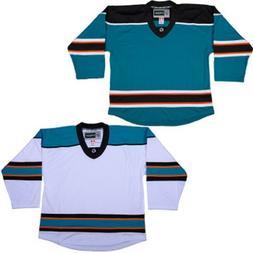 San Jose Sharks Hockey Jersey   NHL Replica Style   No Logo