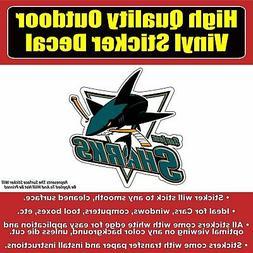 San Jose Sharks - Hockey Vinyl Car Window Laptop Bumper Stic