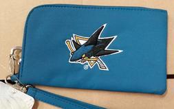 San Jose Sharks ID Wallet Wristlet Cell Phone Case Charm 14