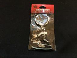 San Jose Sharks Key Chain Ring - New Factory Packaged - NHL