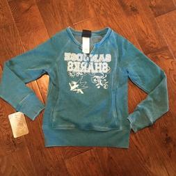 San Jose Sharks NHL Kids Sweater Size 7/8 Hockey Pocket Pull