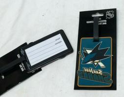 NHL San Jose Sharks Luggage Tag Travel Bag ID Golf Tag FREES
