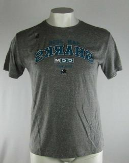 San Jose Sharks CCM Men's Heather Gray T-Shirt NHL Size S M