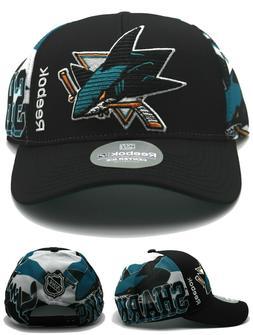 San Jose Sharks New Reebok Playoffs Center Ice Black Teal Er
