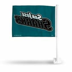 San Jose Sharks NHL 11X14 Window Mount 2-Sided Car Flag