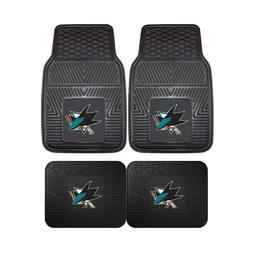 San Jose Sharks NHL 2pc and 4pc Mat Sets - Heavy Duty-Cars,