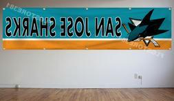 San Jose Sharks NHL Banner Flag 2X8Ft Hockey Flag Decor Hous