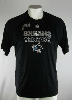 San Jose Sharks NHL adidas Climalite Men's Black T-Shirt