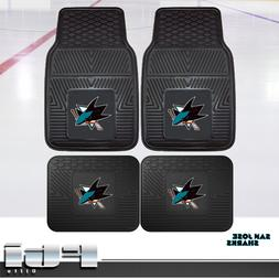 San Jose Sharks NHL Heavy Duty Vinyl 2-Pc & 4-Pc Floor Car T