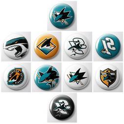 SAN JOSE SHARKS - NHL hockey pinback badge buttons - sports