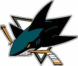San Jose Sharks NHL Hockey bumper sticker, wall decor, vinyl
