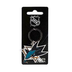 San Jose Sharks NHL Metal Chrome Keychain Ring