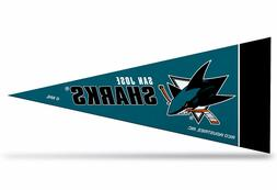 "San Jose Sharks NHL Mini Pennant 9""x4"",New, Felt, Made in US"