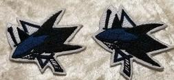 San Jose Sharks NHL Set of TWO Iron/Sew On Embroidered Patch