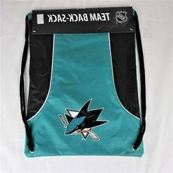 San Jose Sharks Officially Licensed NHL Back Sack Tote