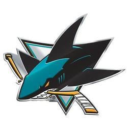 San Jose Sharks Premium Die Cut Metal Color Auto Emblem Chro