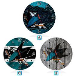 San Jose Sharks Sport Wooden Wall Clock Modern Home Room Dec