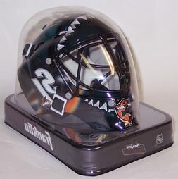 San Jose Sharks Franklin Sports NHL Mini Goalie Mask Helmet