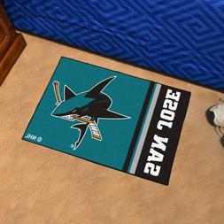 "San Jose Sharks Uniform Inspired 19"" X 30"" Starter Area Rug"