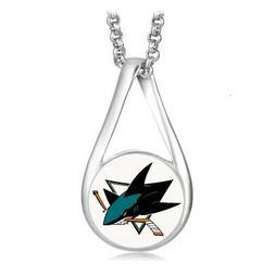 san jose sharks womens 925 silver necklace