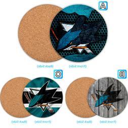 San Jose Sharks Wood Coaster Coffee Cup Mat Mug Pad Table De