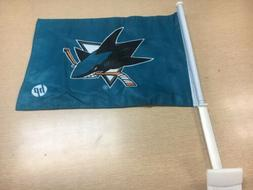 San Jose SJ Sharks 2 sided 12x16 car flag RARE SGA FREE SHIP