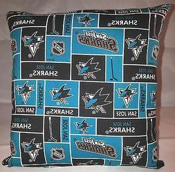 Sharks Pillow San Jose Sharks Pillow NHL Handmade in USA
