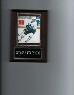 TONY GRANATO PLAQUE SAN JOSE SHARKS HOCKEY NHL